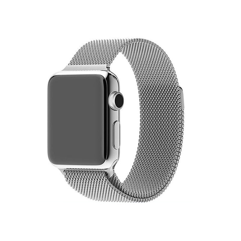 Steel Mesh Apple Watch Loop Band - Silver
