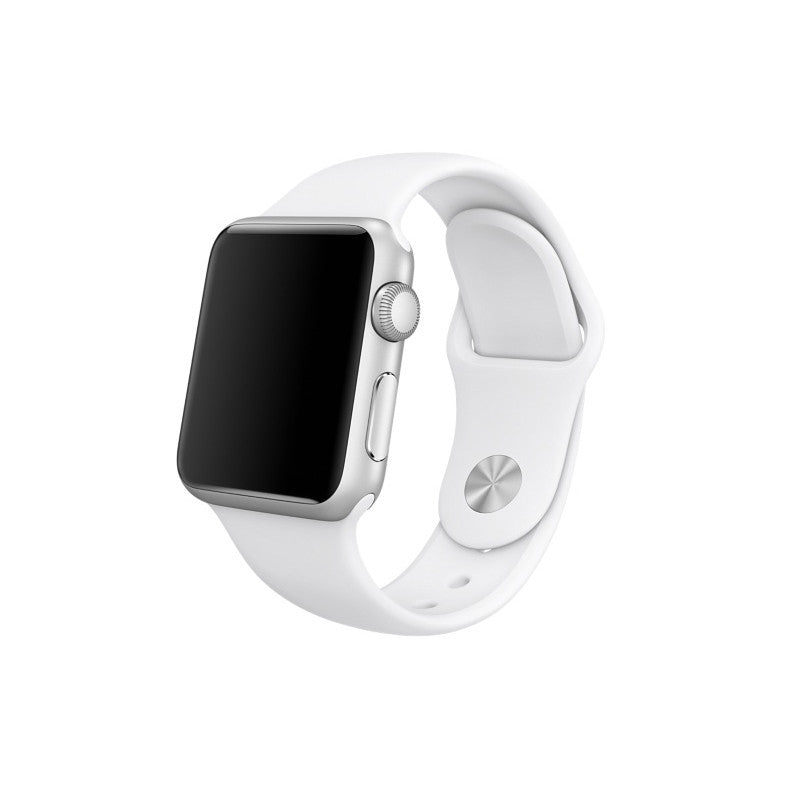 Rubber Sport Band - White