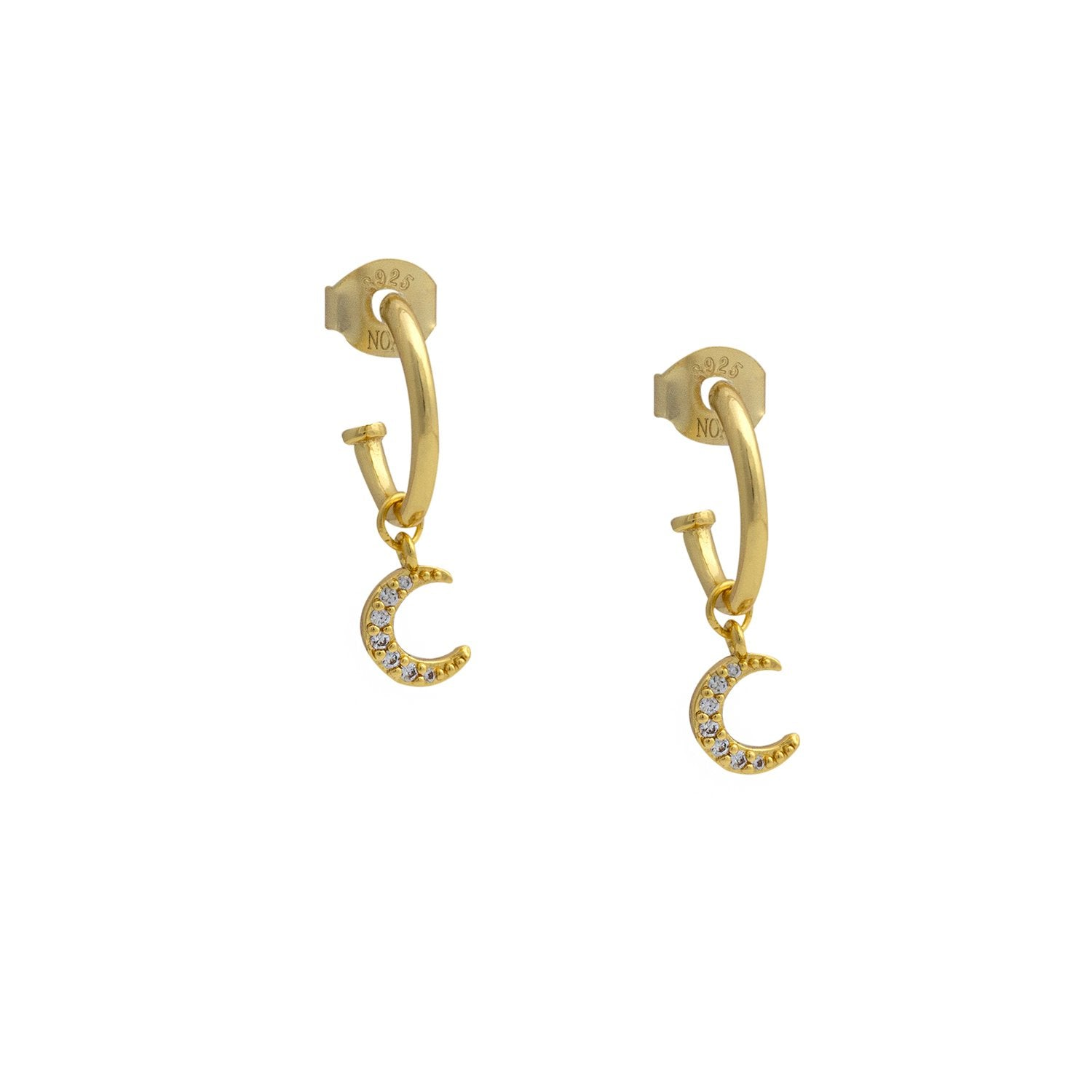 MOON GOLD HOOPS