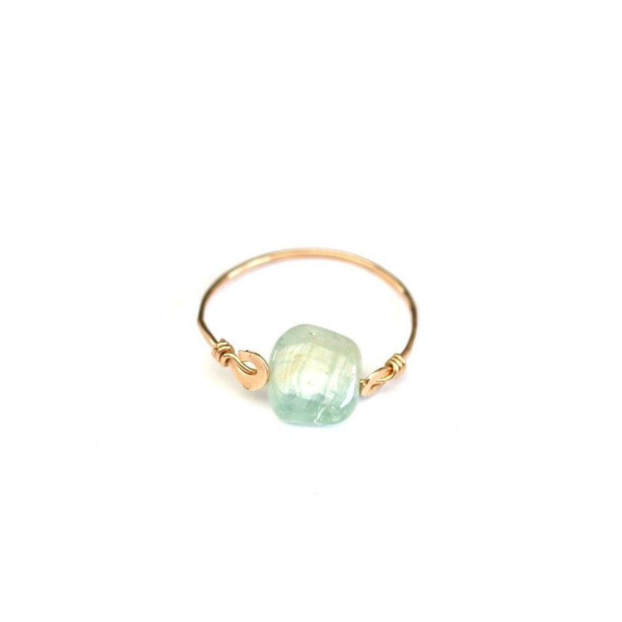 Aquamarine Shakti Ring