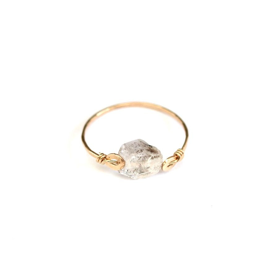 Herkimer Diamond Shakti Ring
