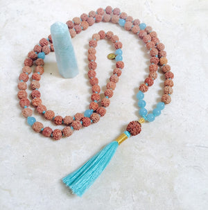 COMPASSION: Amazonite Aloha Mala Necklace