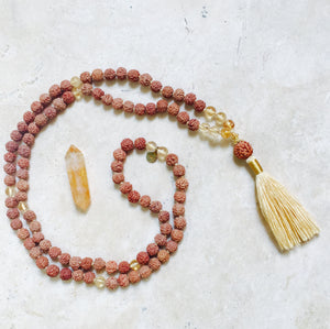 PROSPERITY: Citrine Aloha Mala Necklace