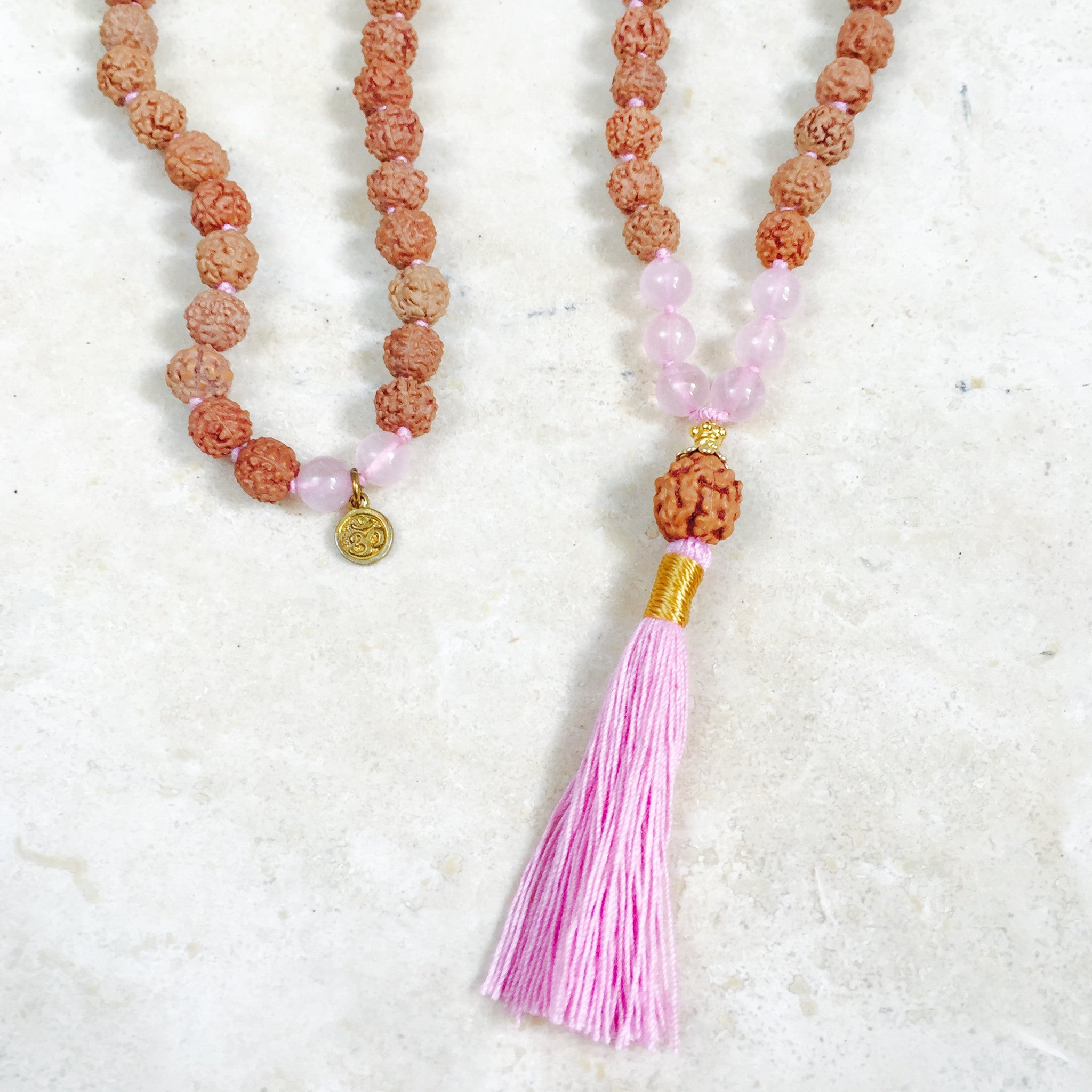 prosperity noelani aloha citrine beads necklace malas mala products hawaii male