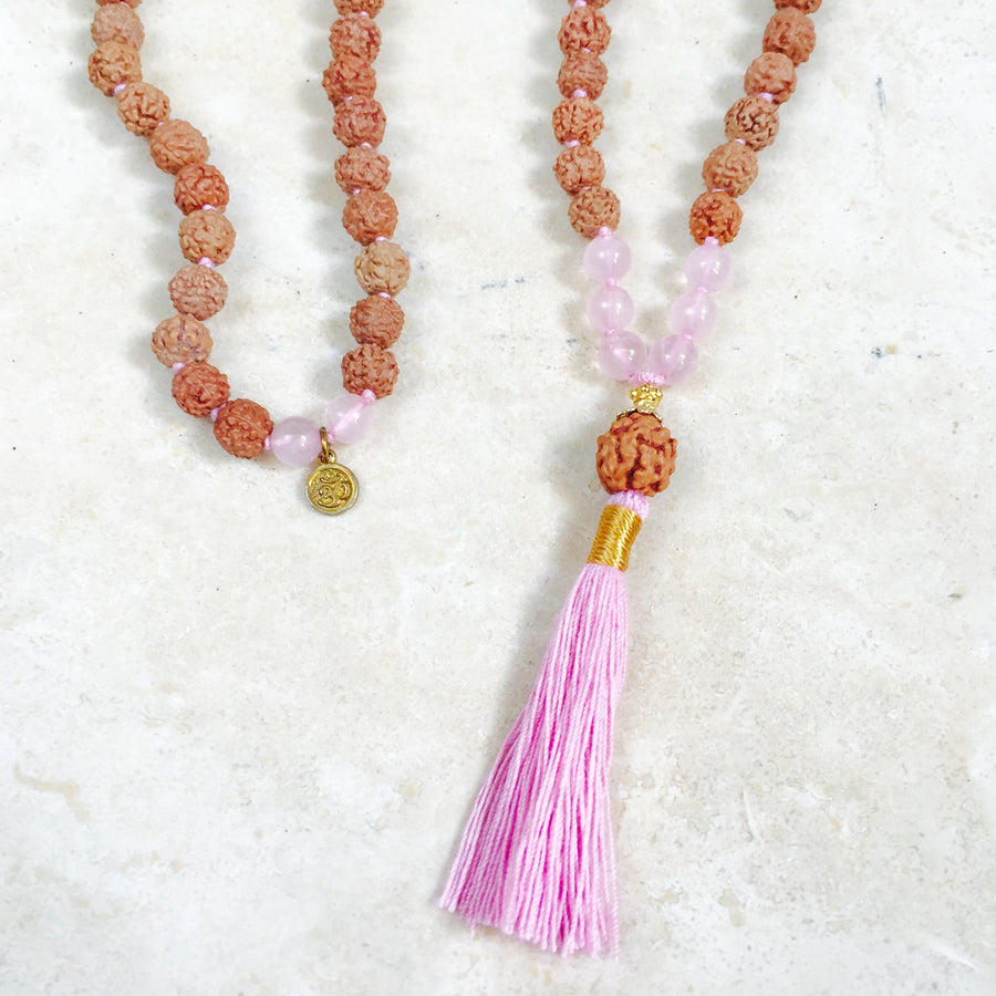 LOVE: Rose Quartz Aloha Mala Necklace