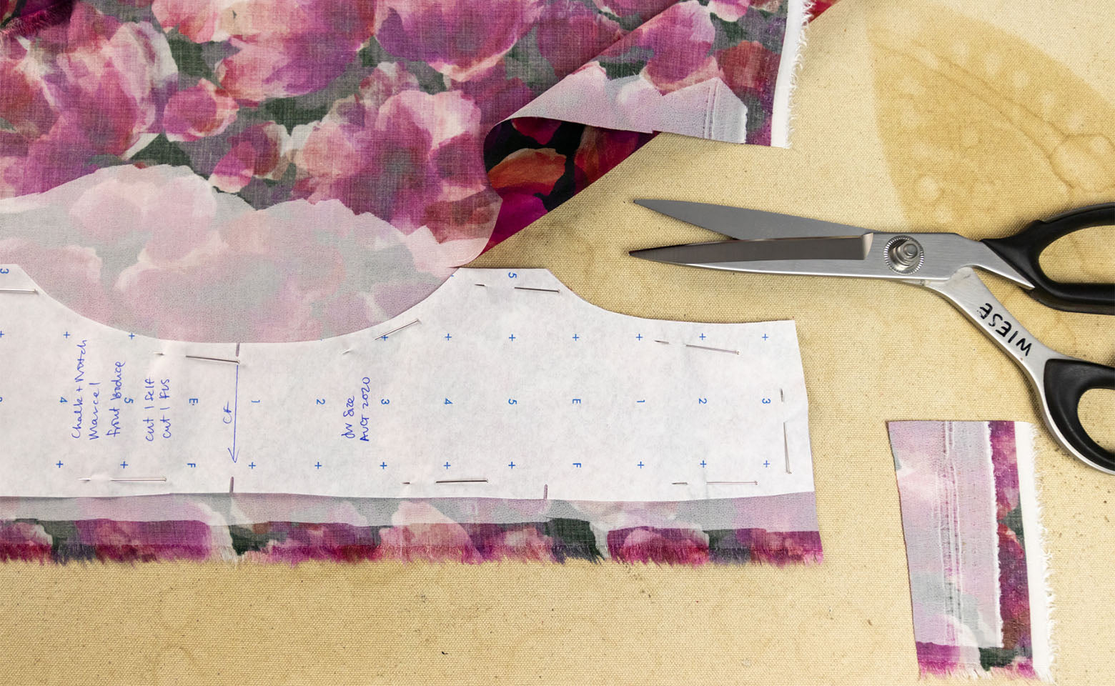 How to Block Fuse Fabric - Your block-fused fabric is now ready to cut