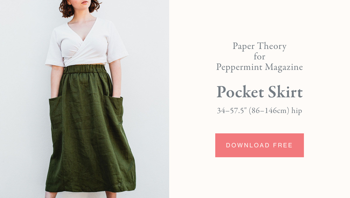 Paper Theory for Peppermint Magazine, Pocket Skirt - Free Sewing Pattern PDF Download