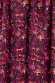 100% Rayon Challis - Poppies in Berry and Black - 1/4 yard