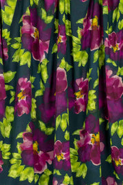 100% Rayon Challis - Fleur in Plum and Marine - 1/4 yard