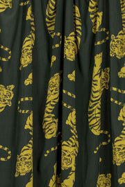 100% Rayon Challis - Tigers in Black - 1/4 yard