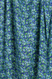 100% Rayon Challis - Jewel Floral in Cool - 1/4 yard