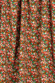 100% Rayon Challis - Jewel Floral in Warm - 1/4 yard