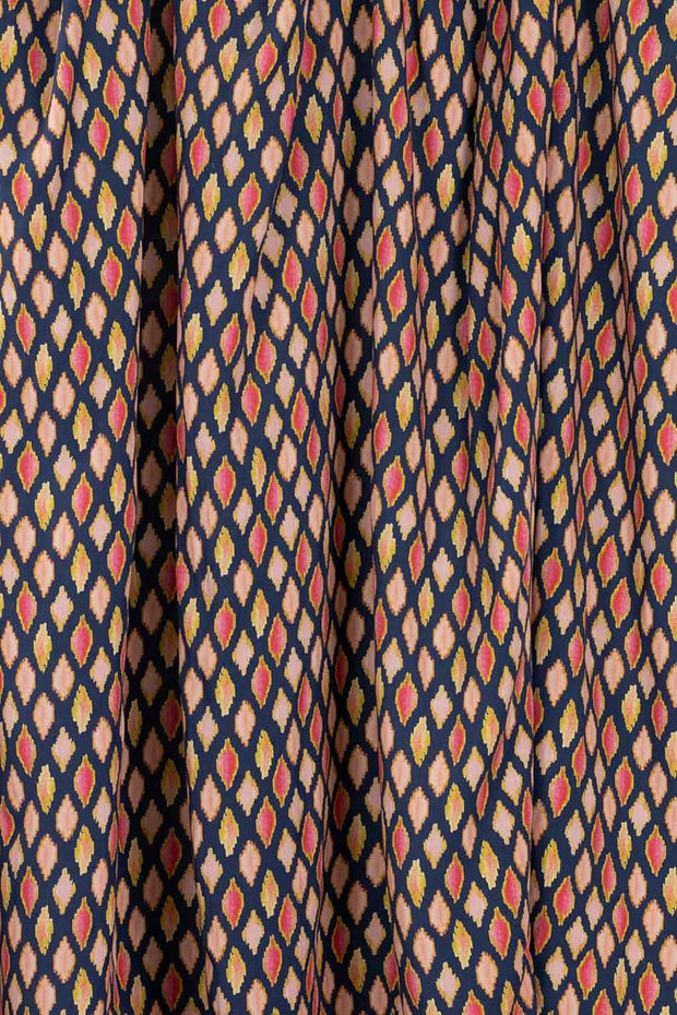 100% Rayon Challis - Poppy Ikat in Warm - 1/4 yard