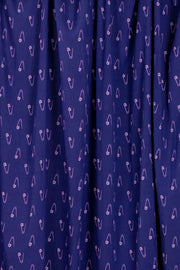 100% Rayon Challis - Pin Play in Navy and Dusk - 1/4 yard