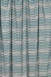 100% Rayon Challis - Ombre Stripe in Frost and Tropics - 1/4 yard