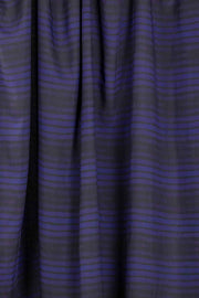 100% Rayon Challis - Ombre Stripe in Black and Navy - 1/4 yard