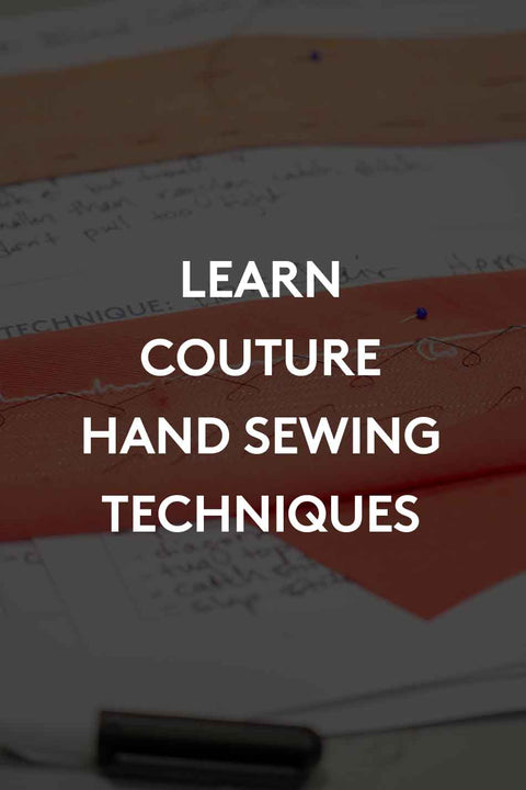Couture Hand Sewing Skills - Registration Deposit