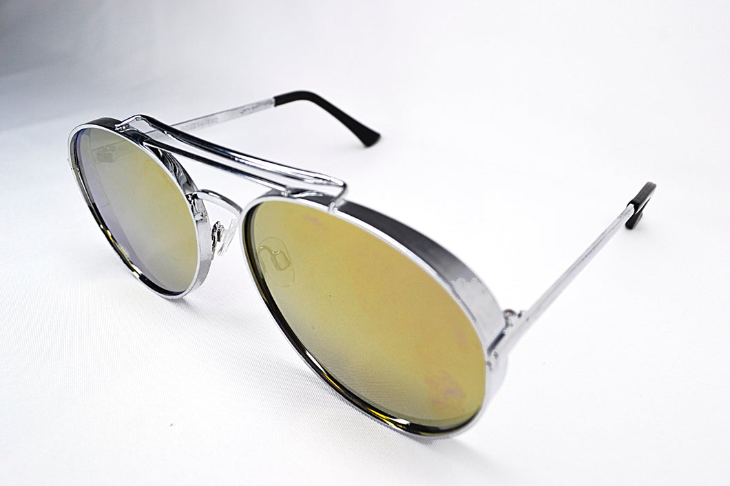Sunglasses - Silver/Yellow Aviators