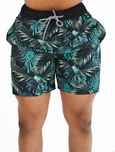 Load image into Gallery viewer, Beach Shorts (Black Palms)