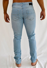 Load image into Gallery viewer, Ripped Skinny Jeans (Light Blue)