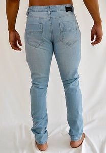 Ripped Skinny Jeans (Light Blue)