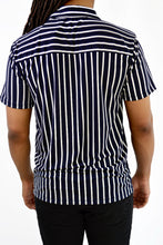 Load image into Gallery viewer, Striped Button-up Shirt (Blue)