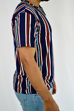Load image into Gallery viewer, Striped Crew Neck (Navy)