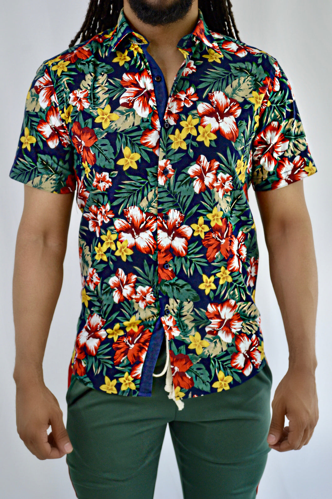 Floral Button-up Shirt