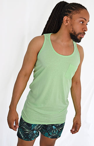 Premium Beach Tanks (Light Green)