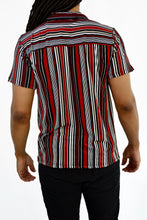 Load image into Gallery viewer, Striped Button-up Shirt (Red)