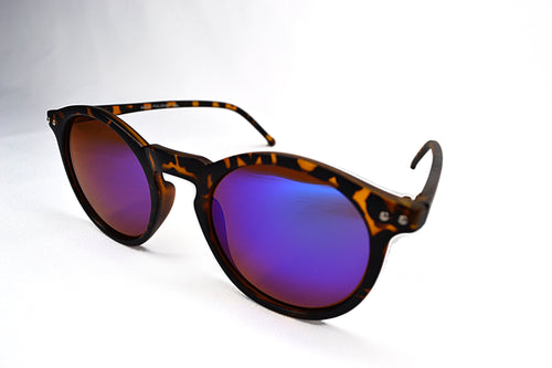 Sunglasses - Tortoise/Blue Round