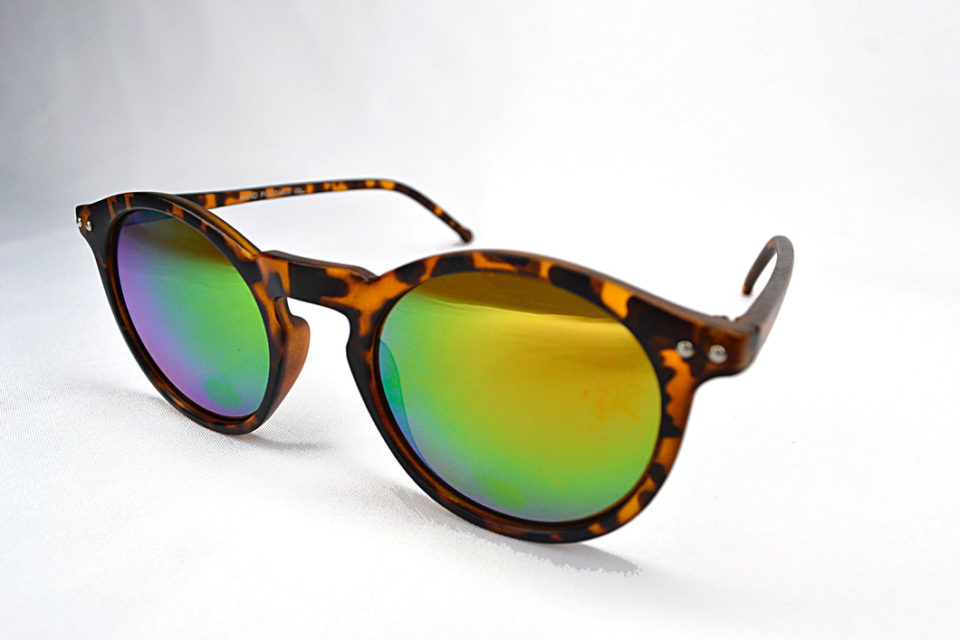 Sunglasses - Tortoise/Yellow Round