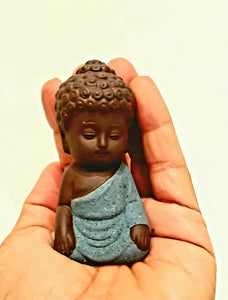 Little Buddha Statue Monk Figurine