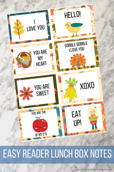 Autumn Lunch Box Notes Freebie!
