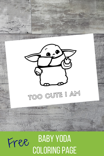 Baby Yoda Coloring Page Freebie