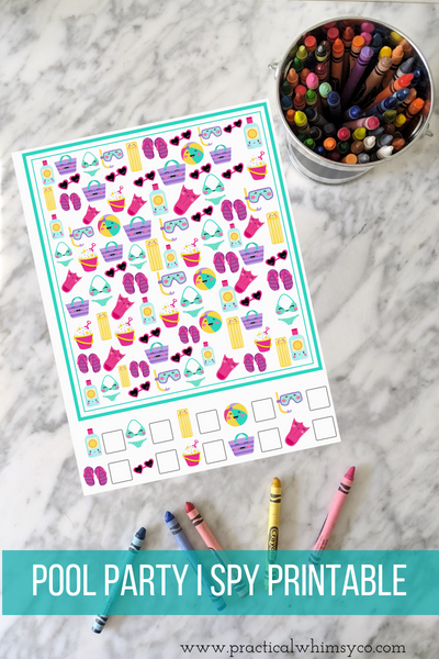 Pool Party Seek and Find Printable