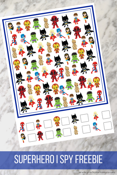 Superhero I Spy Freebie!