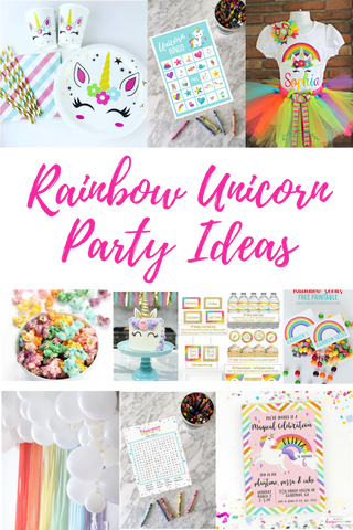 rainbow unicorn birthday party ideas