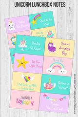 unicorn lunch box notes