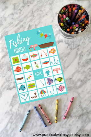 fishing birthday bingo game