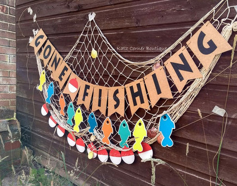 gone fishing birthday party bunting decor