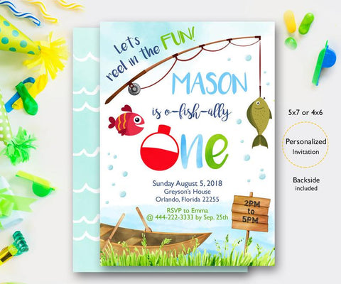 gone fishing birthday invitation