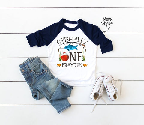 fishing birthday boy tshirt