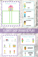 flower garden dramatic pretend play