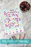 printable pool party i spy freebie