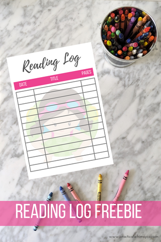 printable pool party reading log freebie