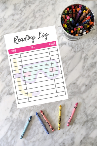 printable pool goggles summer reading log freebie