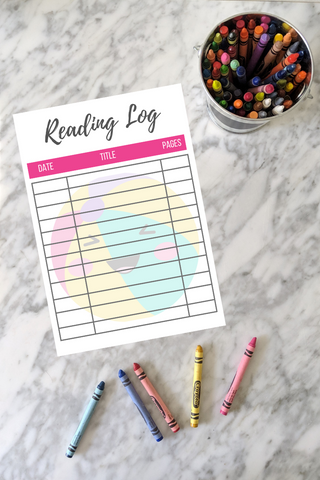 printable beach ball reading log printable