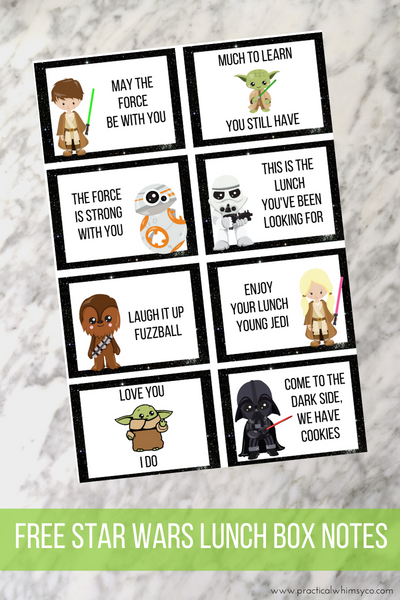 free star wars baby yoda lunch notes
