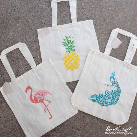 diy tote bag stencil craft